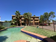 Swimming pool at Terraces on Railway, Alice Springs - fully self-contained furnished apartments.